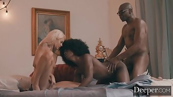 Jeans Cumshot Blonde Interracial