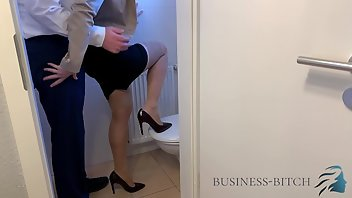 Secretary Stockings High Heels Caught