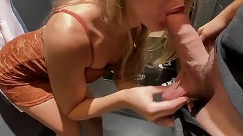 Dress Blonde Blowjob Handjob