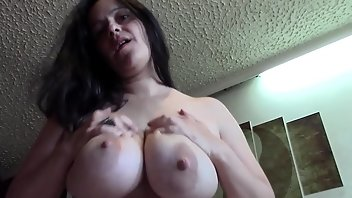 Lactating MILF Homemade Wife