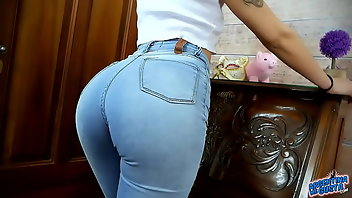 Cameltoe Latina Jeans Big Ass